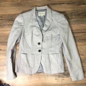 Banana Republic blazer sz 6 stretch light gray